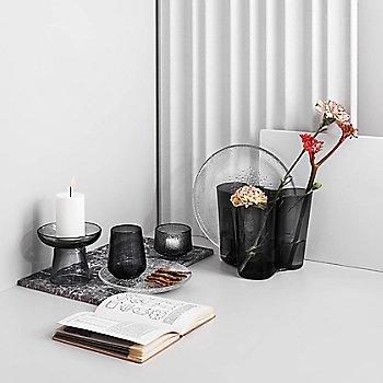 Nappula Pillar Candleholder with Aalto Vase, Kastehelmi Plate, Small