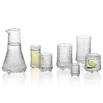 Ultima Thule Set of 2 Cordial Glasses with Ultima Thule Set of 2 Champagne Glasses - Wirkkala Anniversary