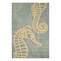 Coastal Lagoon Sea Horsing Around Rug