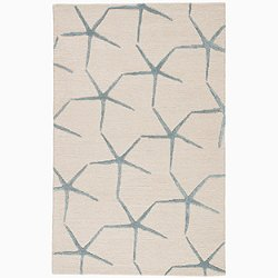 Coastal Resort Starfishing Rug