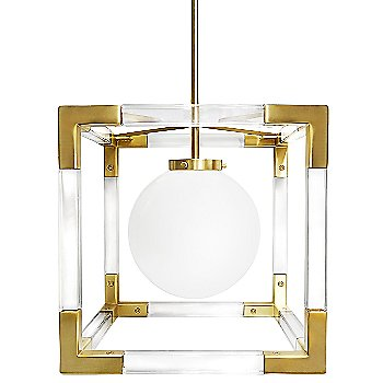 Brushed Brass and Clear Lucite finish