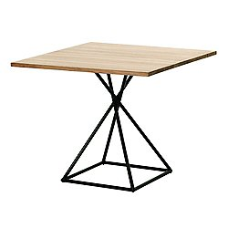 BB Square Table with Square Base, Teak