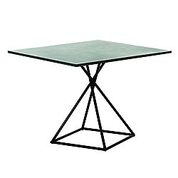 BB Square Table with Square Base, Stone