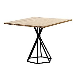 BB Square Table with Hex Base, Teak
