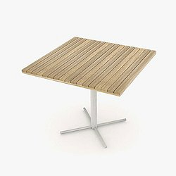 JAZZ Square Table with Pedestal Base