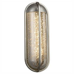 Fusion Starboard Outdoor Wall Sconce (Mrcy/Nkl/L) - OPEN BOX