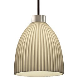 Porcelina Mini Pendant (Pleats/Nickel) - OPEN BOX RETURN