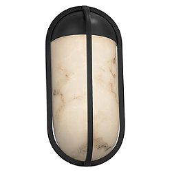 LumenAria Starboard Outdoor Wall Sconce (Black/L) - OPEN BOX
