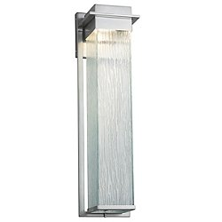 Fusion Pacific Outdoor Wall Sconce(Nickel) - OPEN BOX RETURN