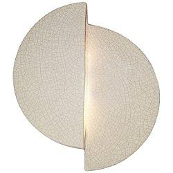 Ambiance Offset Circle Wall Sconce(White Crackle) - OPEN BOX