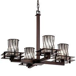 Wire Glass Metropolis Chandelier (Bronze/Incan) - OPEN BOX