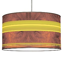 Horizontal Stripey Pendant Light