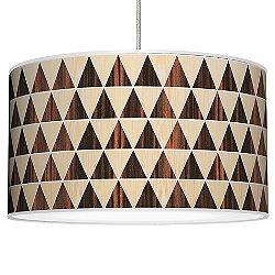 Triangle 2 Pendant Light (Oak and Ebony/16 inch) - OPEN BOX RETURN