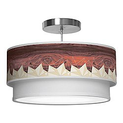Facet Double Tiered Pendant Light