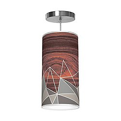 Facet Column Pendant Light