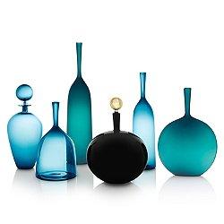 Azure, Steel Blue & Black Vessel Set