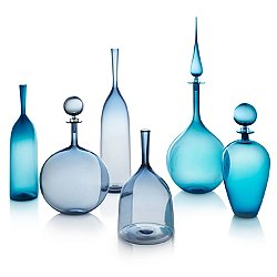 Shades of Blue Decanter & Angelic Bottle Set