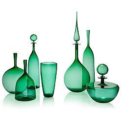 Emerald Decanter & Angelic Bottle Set
