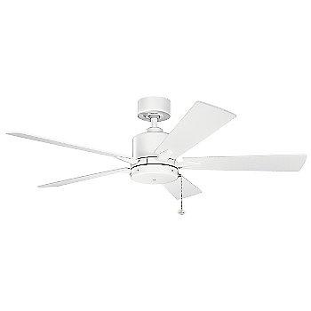 Shown in Matte White with Matte White blades, 52 inch size