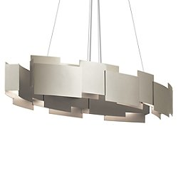 Moderne Oval LED Chandelier