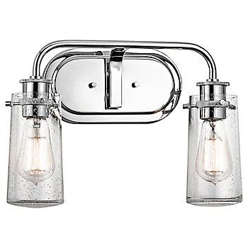 Shown in Chrome finish, 2 lights