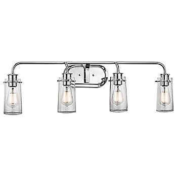 Shown in Chrome finish, 4 lights