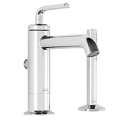 Cite 2-Piece Tall Deckmount Tub Filler With Handshower
