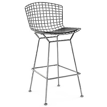 Shown in Vinyl Black with Polished Chrome finish, Bar Height