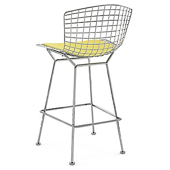 Shown in Vinyl Sunflower with Polished Chrome finish, Counter Height