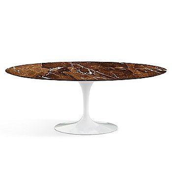 Shown in Espresso Brown Marble Satin top, White base