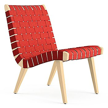 Shown in Red Cotton Webbing fabric with Maple frame finish