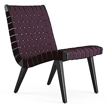 Shown in Aubergine Cotton Webbing fabric with Ebonized Maple frame finish