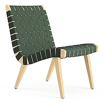 Shown in Forest Green Cotton Webbing fabric with Maple frame finish