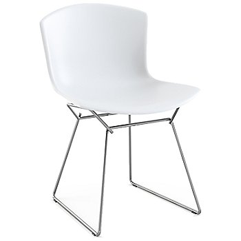 Shown in White with Polished Chrome Base Finish