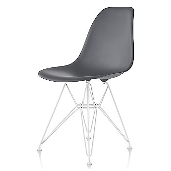 Charcoal seat color with Wire Base/White