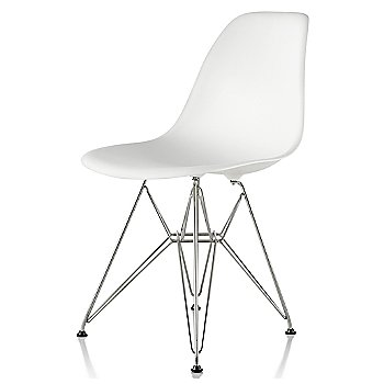White seat color with Wire Base/Trivalent Chrome
