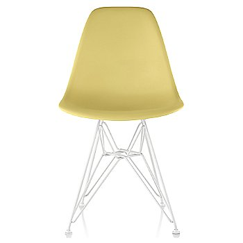 Pale Yellow seat color with Wire Base/White