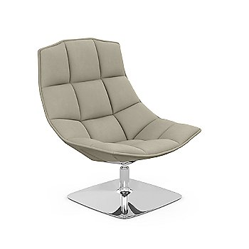 Shown in Volo Leather: Volo Tan with Polished Aluminum finish
