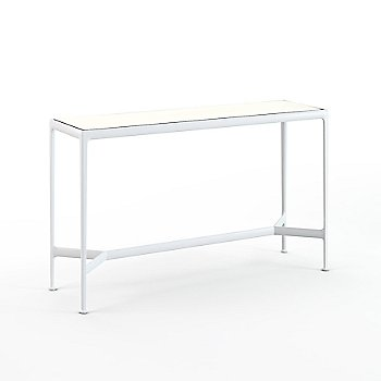 36 Inch / White Porcelain with White frame / Bar Height Table