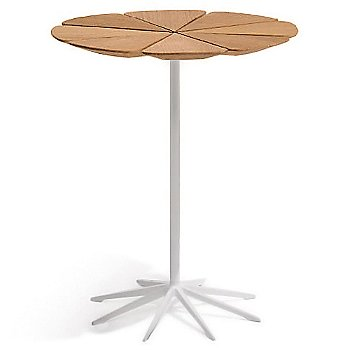 Shown in Teak top with White Base