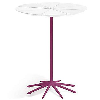 Shown in White High Density Polyurethane top with Plum Base