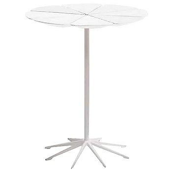 Shown in White High Density Polyurethane top with White Base