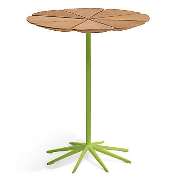 Shown in Teak top with Lime Green Base