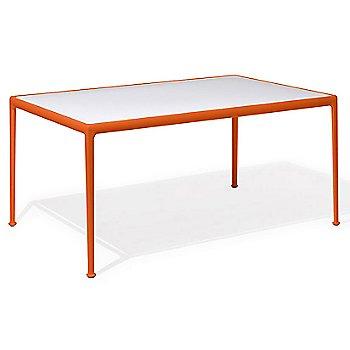 Shown in White Fiberglass with Orange frame, 38-In X 60-In
