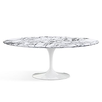 Shown in Arabescato White-Grey Satin Coated Marble finish with White base finish,  78-Inch