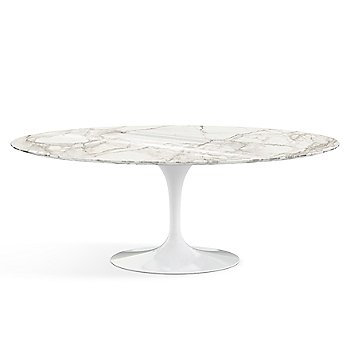 Shown in Calacatta White-Grey Beige Shiny Coated Marble finish with White base finish, 78-Inch