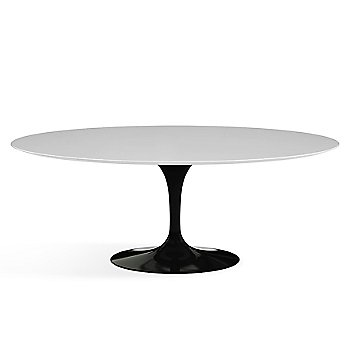 Shown in White Laminate finish with Black base finish, 78-Inch