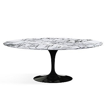 Shown in Arabescato White-Grey Shiny Coated Marble finish with Black base finish, 78-Inch