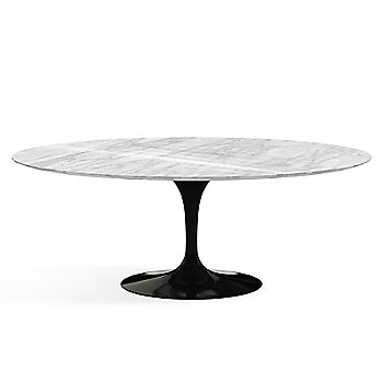 Shown in Carrera White-Grey Shiny Coated Marble finish with Black base finish, 78-Inch
