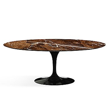 Shown in Espresso Brown Shiny Coated Marble finish with Black base finish, 78-Inch